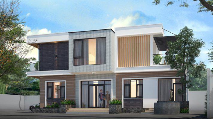 Công ty thiết kế nhà 2 tàng mái bằng tại Vĩnh Phúc
