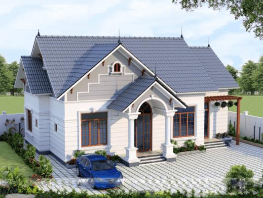 Công trình thiết kế thi công nhà vườn mái thái anh Học Bình Xuyên Vĩnh Phúc