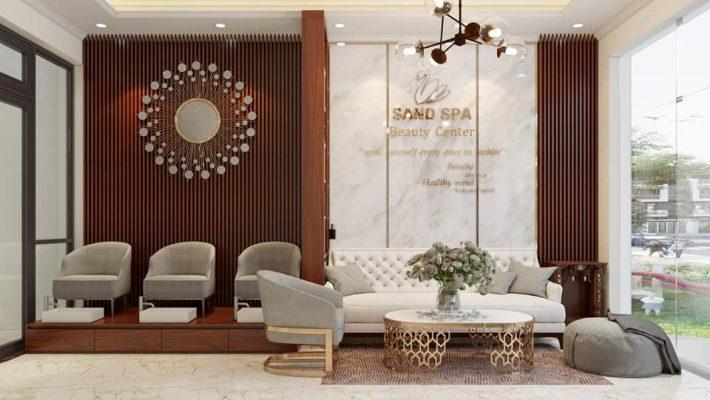 Thiết kế thi công nội thất Sand SPA tại Vĩnh Yên Vĩnh Phúc