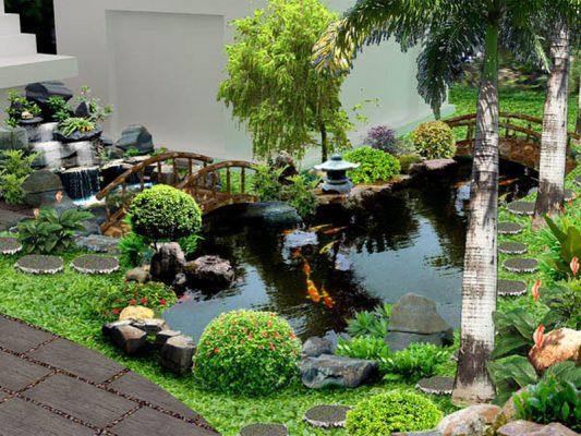 Công ty thiết kế thi công tiểu cảnh sân vườn tại Vĩnh Phúc