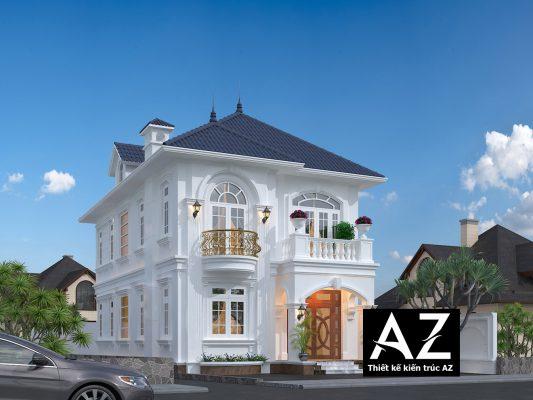 Thiết kế biệt thự 2 tầng kiểu châu âu