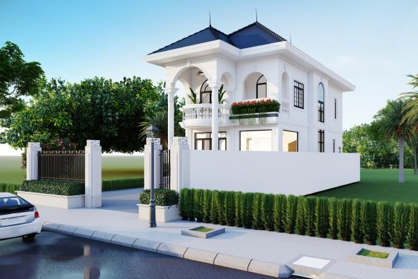 Thiết kế biệt thự mini mái thái siêu đẹp