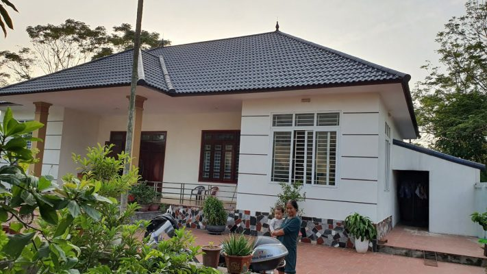 Thiết kế mẫu nhà vườn 1 tầng 4 phòng ngủ tại Vĩnh Phúc