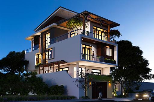 Thiết kế biệt thự 3 tầng hiện đại diện tích 110m2 tại Vĩnh Phúc