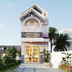 Thiết kế nhà phố mái thái 2 tầng cho chị Minh tại Trung Mỹ Vĩnh Phúc