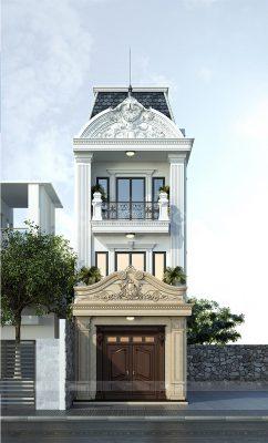 Thiết kế nhà ống 3 tầng tân cổ điển tại Vĩnh Phúc