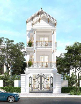 Mẫu nhà phố tân cổ điển 3 tầng đẹp sang trọng