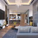 Thiết kế nội thất phòng khách cho nhà ống chuẩn đẹp nhất