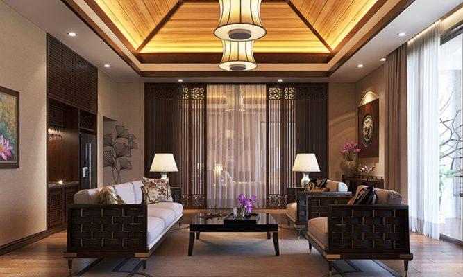 Phòng khách cao cấp phong cách tân cổ điển