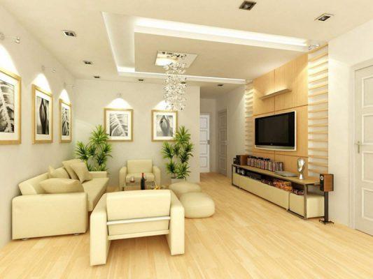 Màu sắc sáng trong thiết kế nội thất phòng khách hiện đại