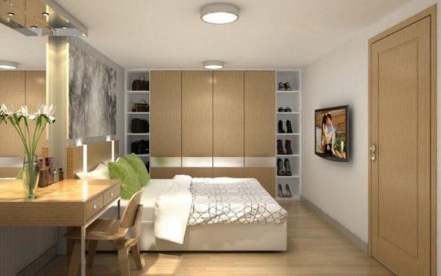 Phòng ngủ với nội thất gỗ công nghiệp cao cấp