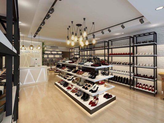 Thiết kế thi công nội thất shop thời trang đơn giản