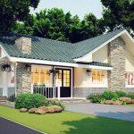 Thiết kế mẫu nhà biệt thự 1 tầng 2 phòng ngủ tại Vĩnh Phúc