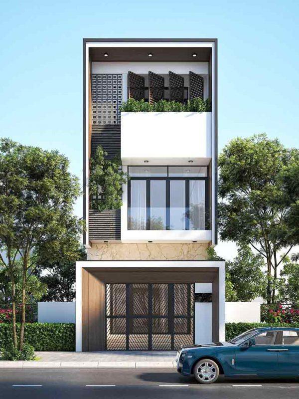 Thiết kế nhà phố ấn tượng sang trọng nhất 2021