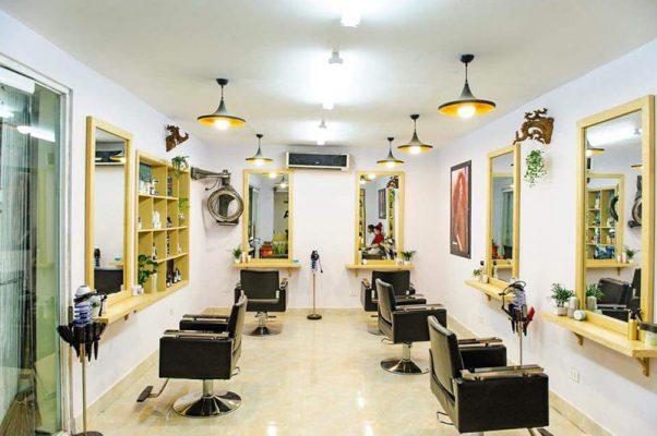Thiết kế nội thất salon tóc đẹp hiện đại