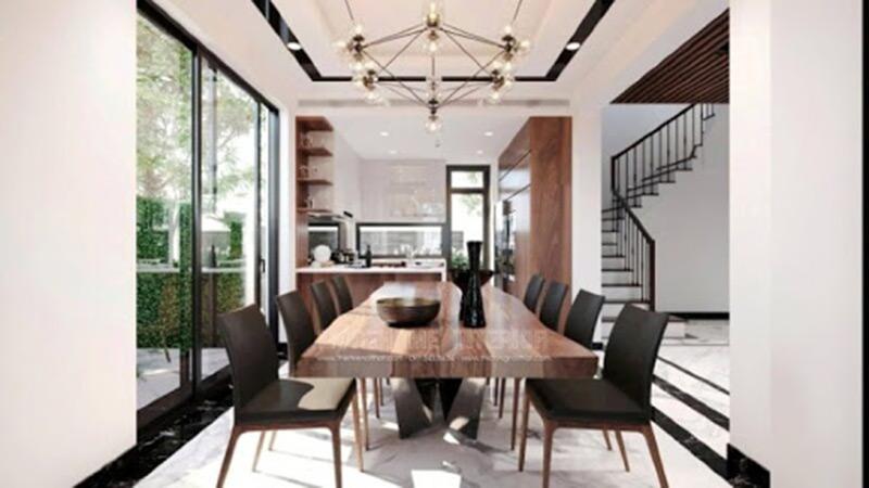 Thiết kế thi công nội thất phòng ăn đơn giản hiện đại