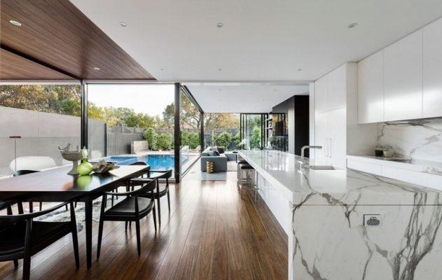 Thiết kế thi công nội thất phòng ăn biệt thự vườn
