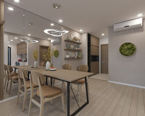 Thiết kế thi công nội thất phòng ăn chung cư