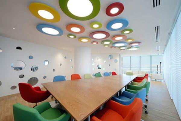 Thiết kế phòng họp thoáng và trẻ trung