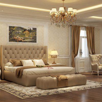 Thiết kế thi công nội thất phòng ngủ tân cổ điển