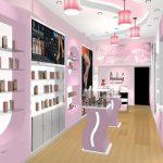 Thiết kế thi công nội thất shop mỹ phẩm tại Vĩnh Phúc