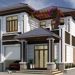 Thiết kế biệt thự 2 tầng 9.3×15.6m Anh Long Yên Lạc Vĩnh Phúc
