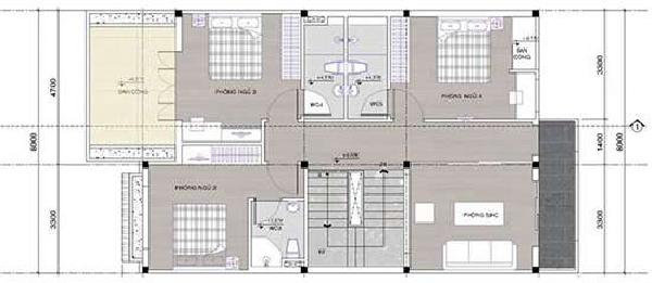 Mẫu nhà 2 tầng 8x10m đẹp nhất tại Vĩnh Phúc