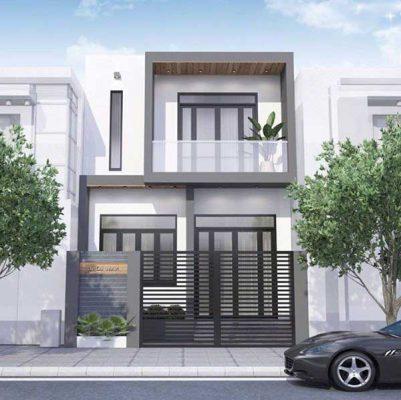 Mẫu nhà 2 tầng 9x12 m2 tại Vĩnh Phúc