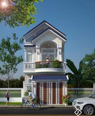 Giới thiệu mẫu nhà 2 tầng có ban công đẹp tại Vĩnh Phúc