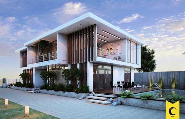 Những mẫu nhà 2 tầng có ban công đẹp tại Vĩnh Phúc