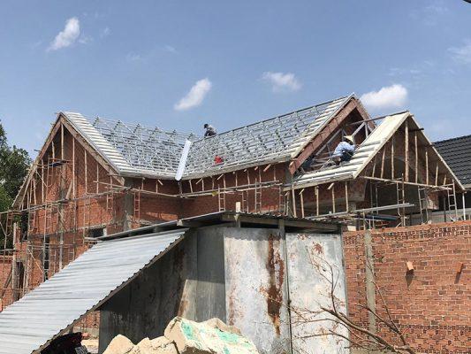 Thi công nhà mái thái phần thô tại Vĩnh Phúc