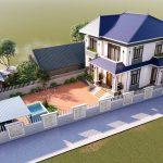 Thiết kế thi công Biệt thự 2 tầng mái nhật anh Ngọc Tam Dương Vĩnh Phúc