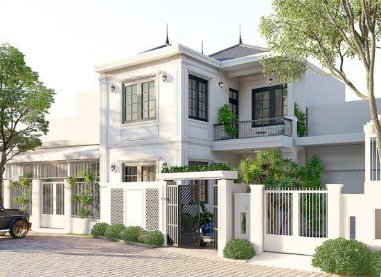Thiết kế thi công biệt thự phố 2 tầng Vĩnh Tường Vĩnh Phúc