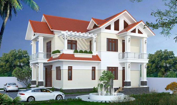 Công trình thiết kế thi công nhà 2 tầng mái thái anh Tuấn Tam Dương Vĩnh Phúc