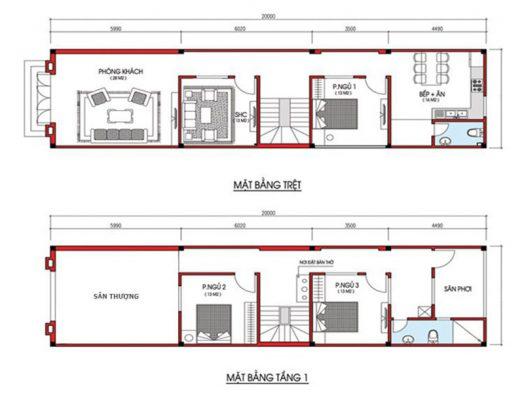 Bản vẽ thiết kế nhà phố