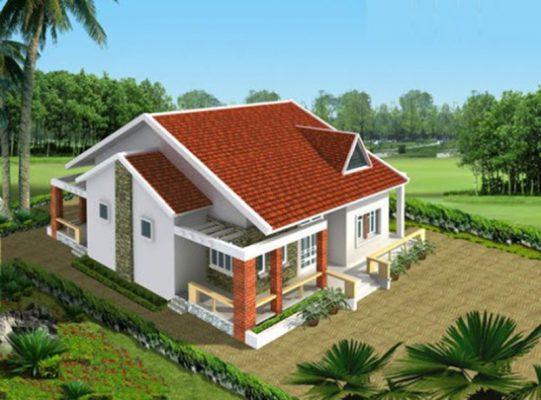 kiến trúc nhà cấp 4 hiện đại tại nông thôn