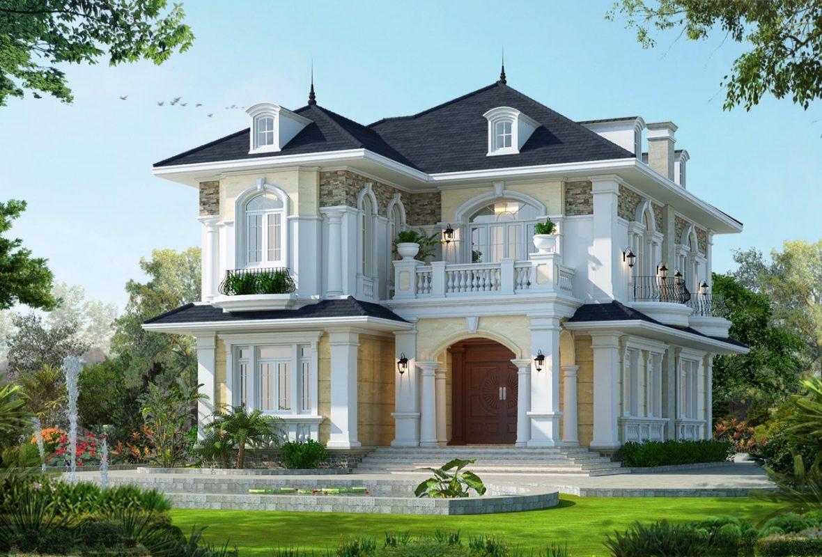 Mẫu nhà 2 tầng tân cổ điển đẹp nhất tại Vĩnh Phúc