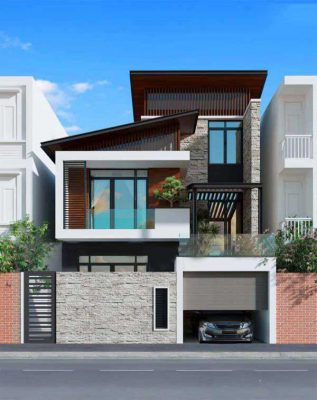 Mẫu thiết kế nhà 2 tầng 7x10 đẹp hút hồn