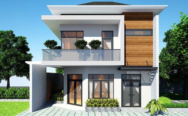 Thiết kế nhà hai tầng mái Nhật hiện đại