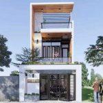 Thiết kế mẫu nhà phố 5×20 tầng lệch đẹp nhất 2021 tại Vĩnh Phúc