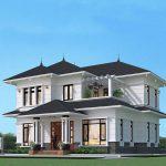 Thiết kế nhà mái Nhật đẹp tại Vĩnh Phúc