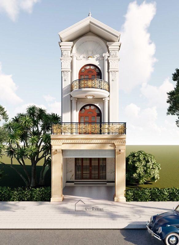 Nhà phố 3 tầng tân cổ điển anh Thành ở Tam Dương -Vĩnh Phúc