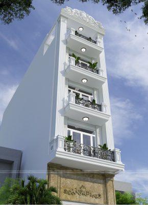 Thiết kế nhà phố tân cổ điển 6 tầng tân cổ điển tại Vĩnh Phúc