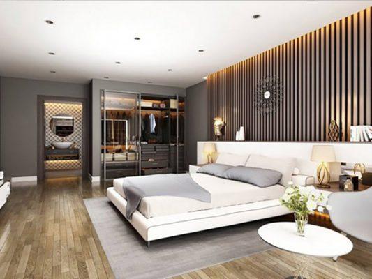 Phòng ngủ master nhà phố