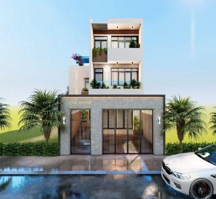 Thiết kế nhà phố 3 tầng diện tích 95m2