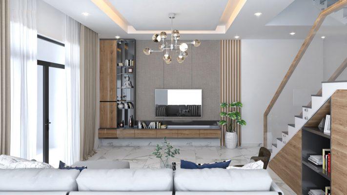 Thiết kế nhà phố 2 tầng 84m2 mái thái đẹp