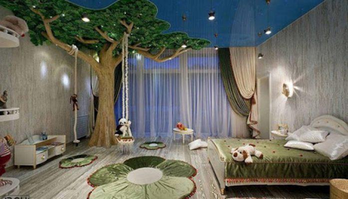 Phòng ngủ trẻ với nội thất mang dáng vẻ thiên nhiên
