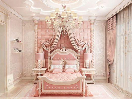 Phòng ngủ công chúa cho bé gái