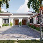 Thiết kế nhà cấp 4 có sân vườn chị Duyên Vĩnh Tường, Vĩnh Phúc