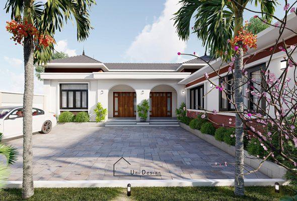 Mẫu nhà cấp 4 kiểu mái Nhật đẹp tại Vĩnh Phúc